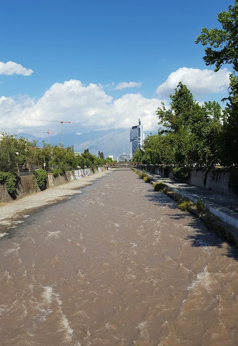 River Mapocho. Glacial water, it aint