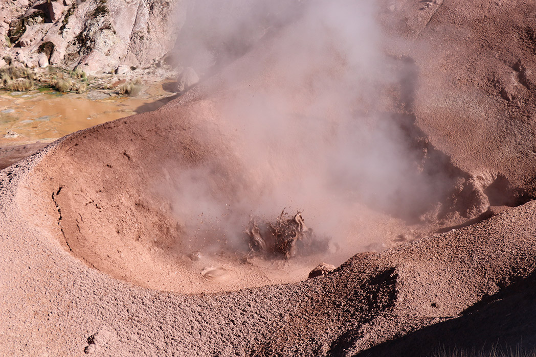 A geothermal pool, or an endoscope looking at the effects of my altitude sickness?