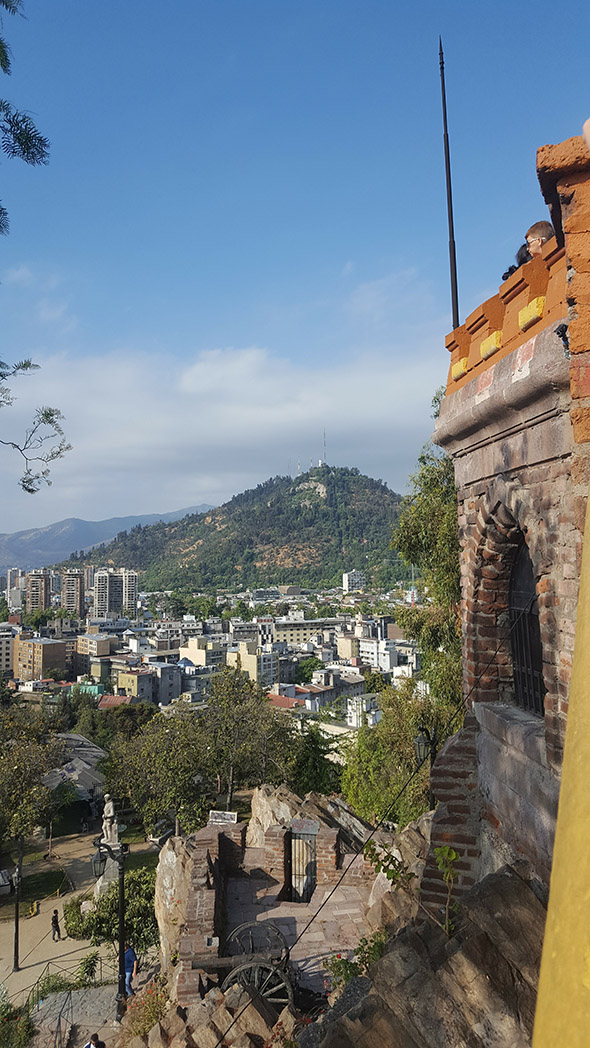 Castle Hidalgo looking North towards San Cristóbal Hill