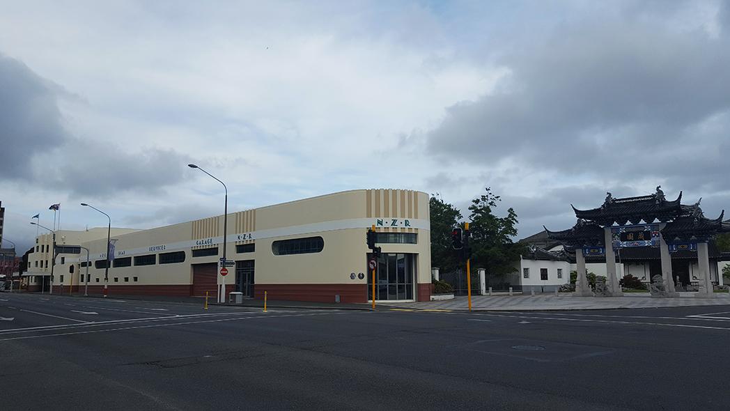 Dunedin; mixture of architecture eras