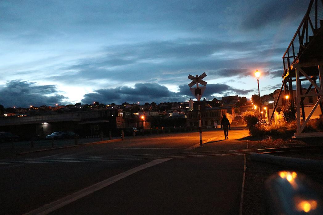 Oamaru, after dark. Closed down.