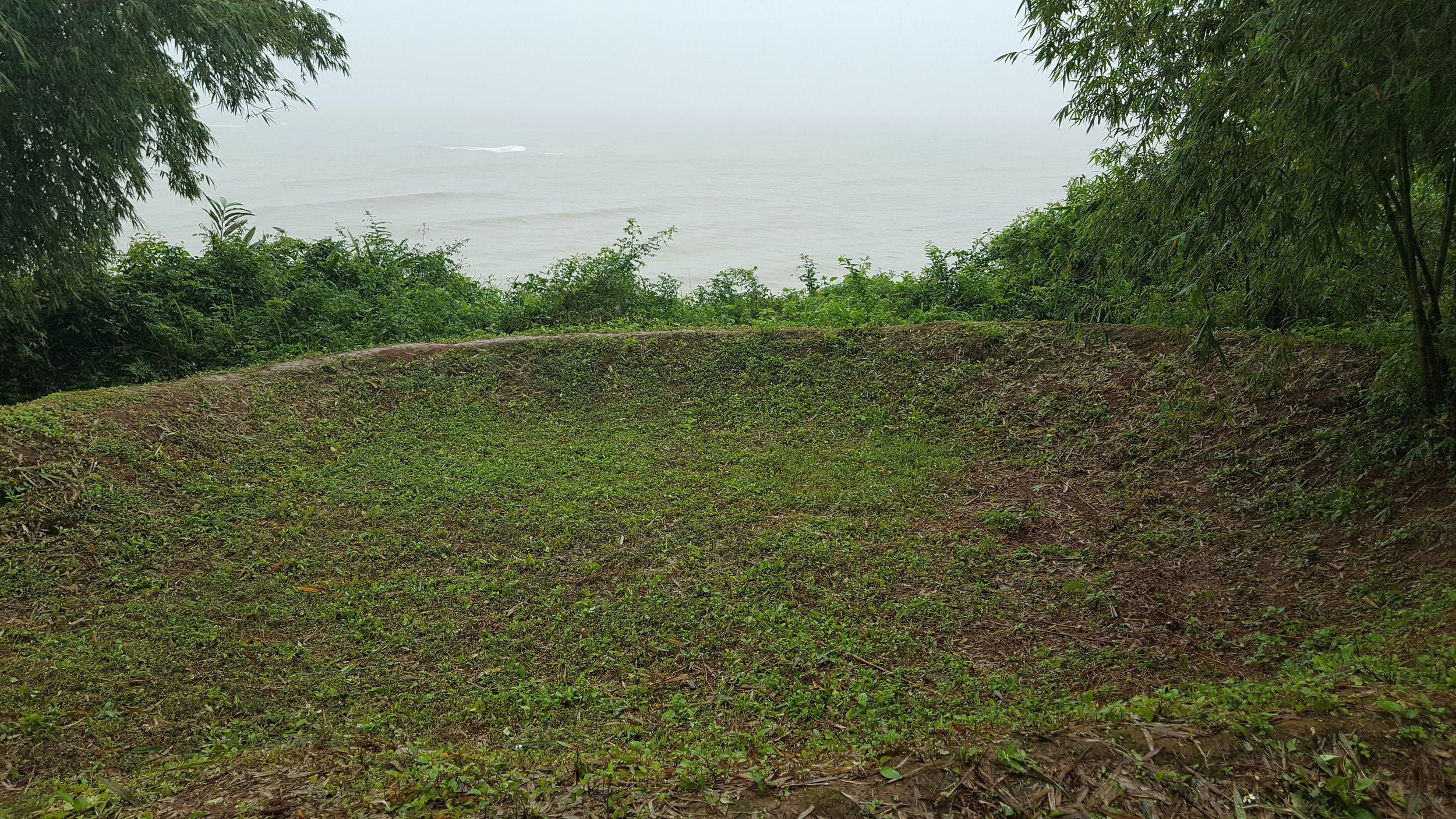 Bomb Crater above the Vinh Moc tunnels