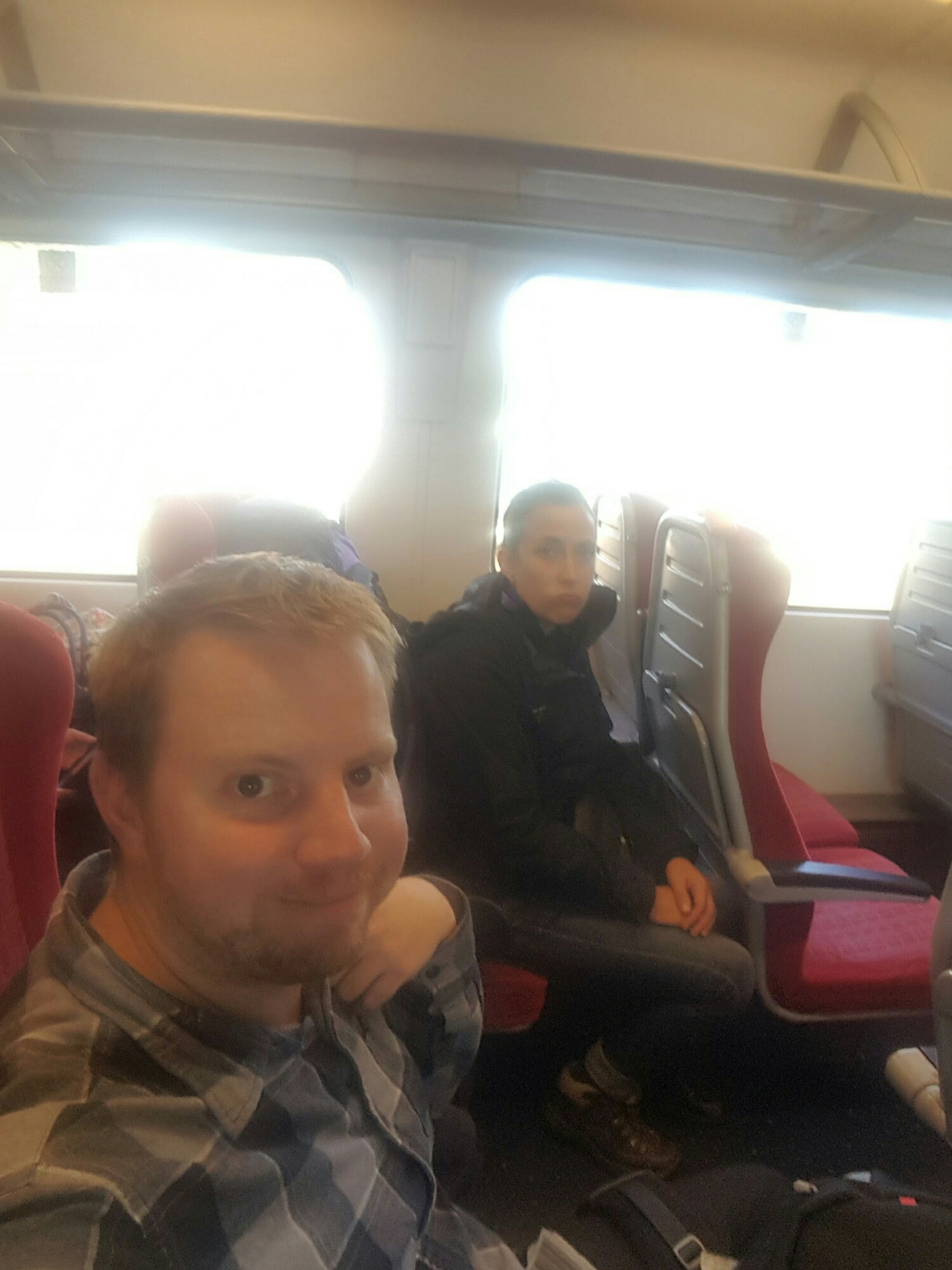 Planes, South West Trains and fraught 'n' slow wheels