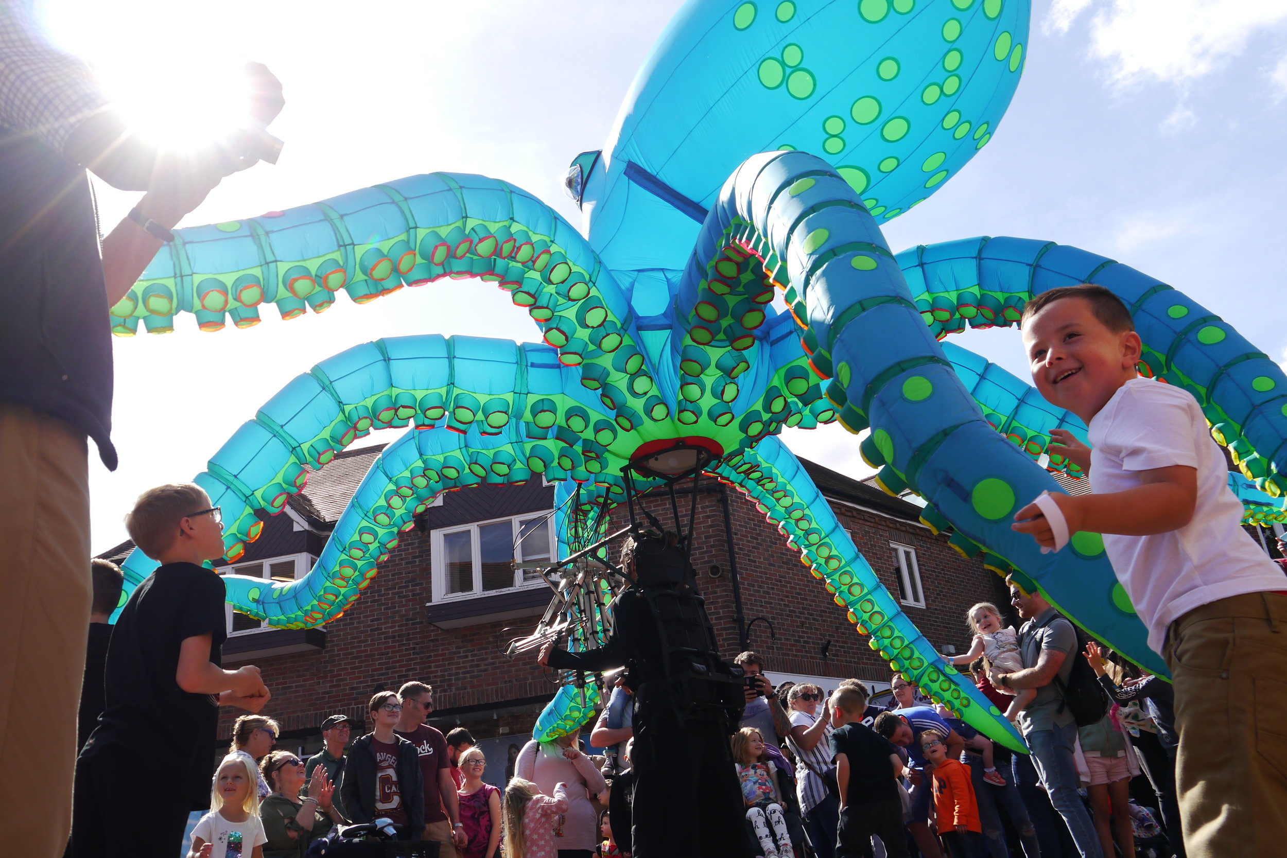 OchoTheOctopus performing in Witham