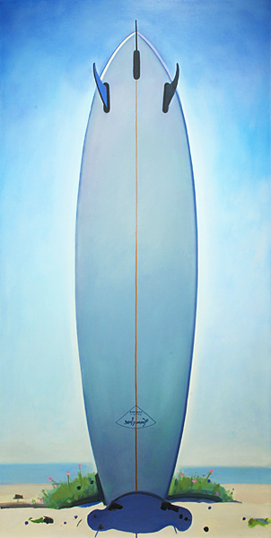 Title:  Lauren Yater at Augustine    Medium:  Oil on canvas over board.   Year:  2006   Size:  96 x 48 inches