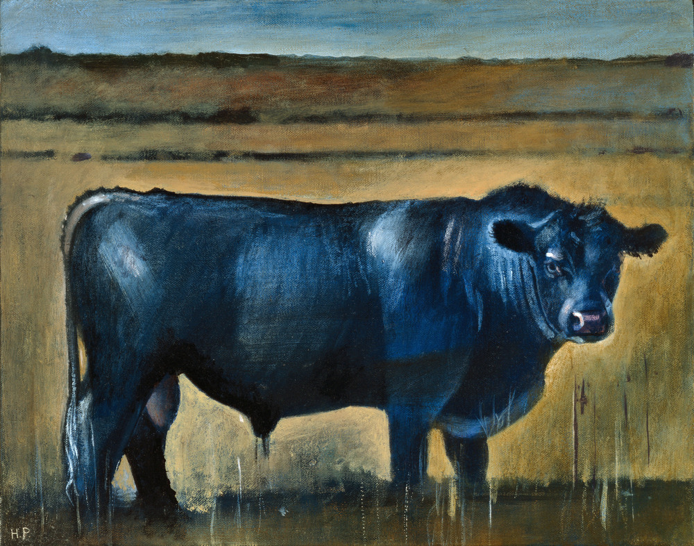 Painting from Hank Pitcher's 1980-90's series of Bulls at Point Conception. © Hank Pitcher 2015