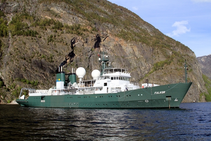 Research vessel Falkor. The only thing missing on this ship is a set of bronze Plankton Action Figures!