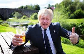 Boris loves man pints.