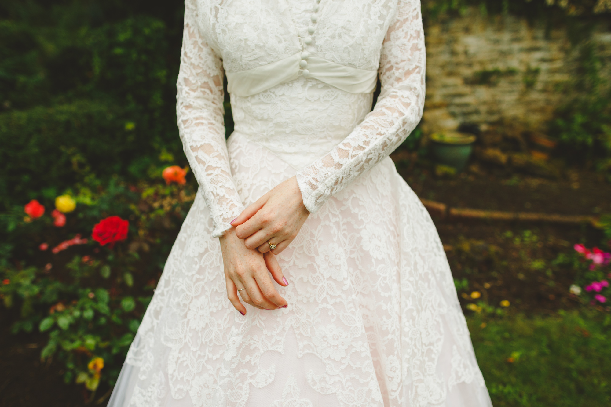 Wedding photography, bride in vintage wedding dress