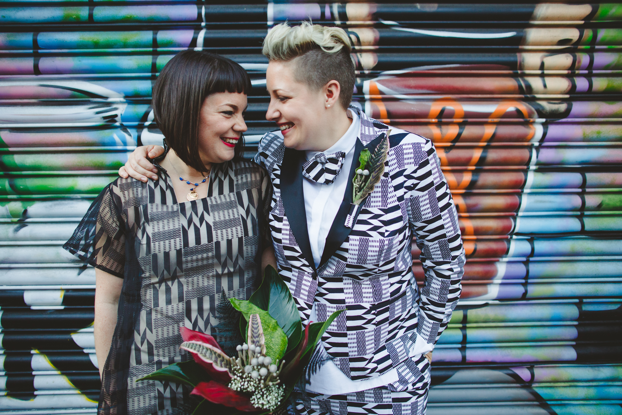 hackney wick wedding photography, cool wedding, london wedding, graffiti wedding photo