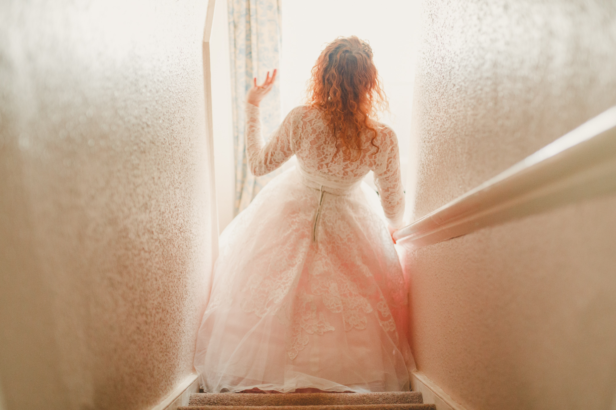 bride-in-vintage-dress-