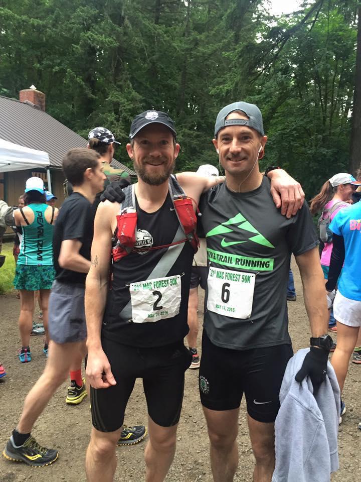 Scott Williams and Bradley Pigage (6th)post race
