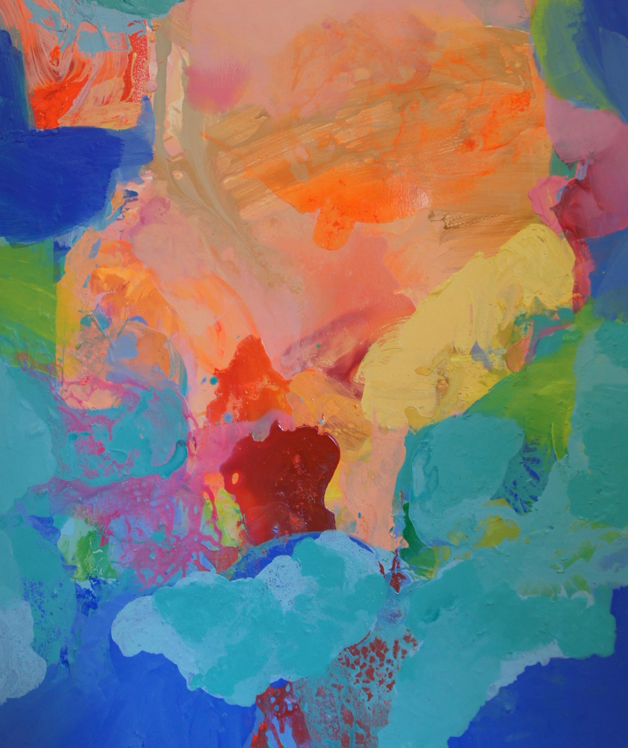 Merja Simberg, Sealed With A Kiss, 2018, ink and acrylic on canvas, 130X110cm JPEG.jpg