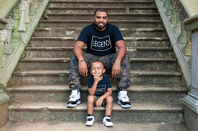 A legend and his little legacy! Love when we have the opportunity to photograph dope fathers and their sons🤓  #likefatherlikeson #dopeblackdads  #Dadsofinstagram #candidframes #strongblackfathers #dopedads