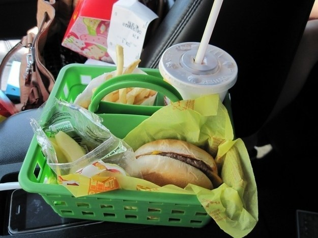 Food caddy in car
