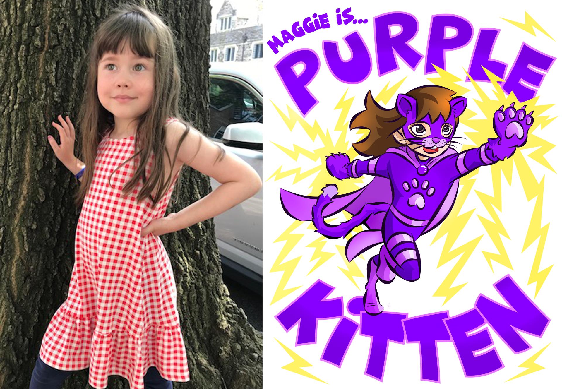 Maggie (Purple Kitten)
