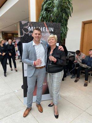 Chef Jean Delport & Owner Penny Streeter OBE