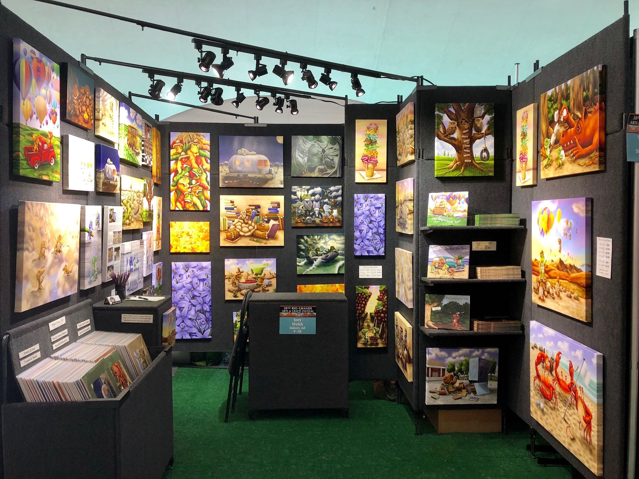 My booth at the 2018 Rio Grande Balloon Fiesta Show