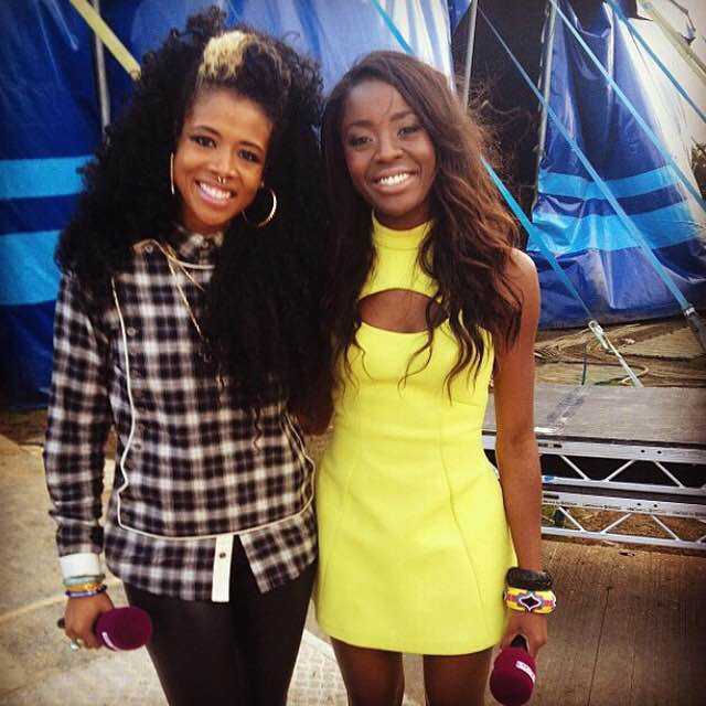 Aj Odudu and Kelis Isle of Wight Festival