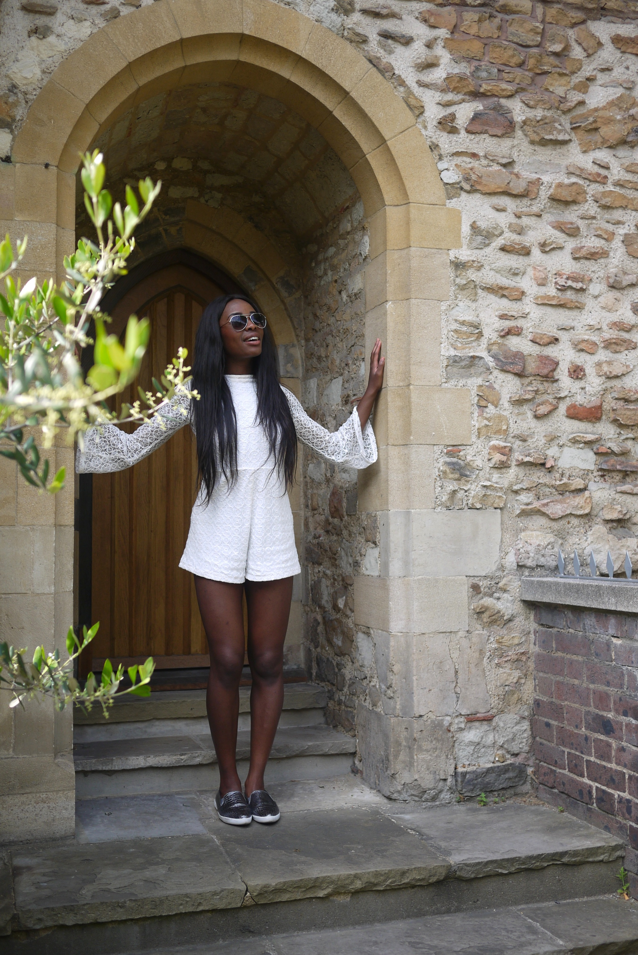 H&M White Playsuit