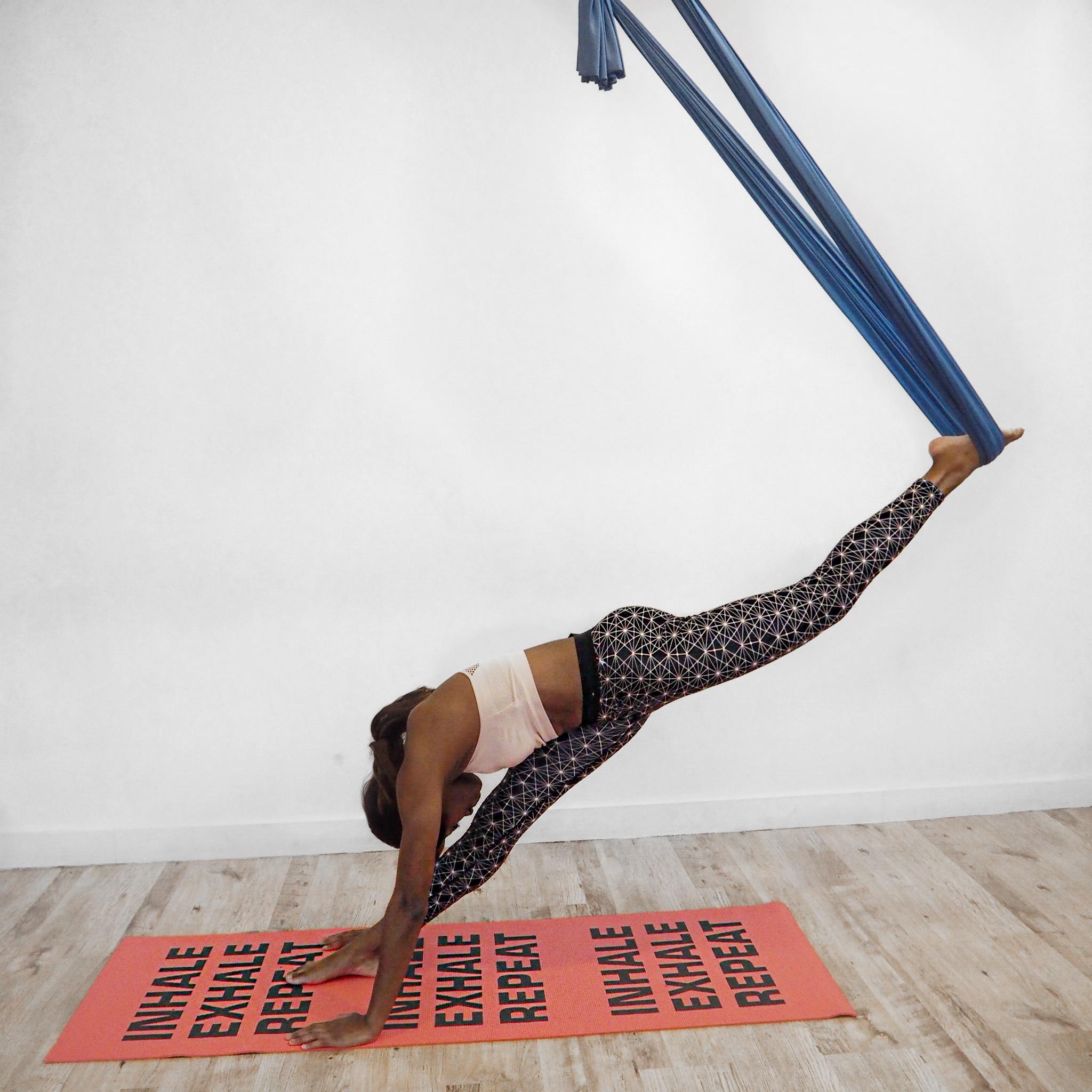 Standing Splits Aerial Yoga