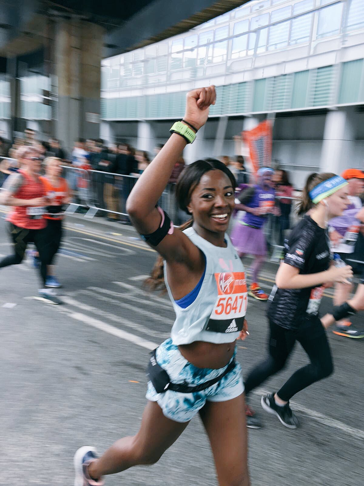 London Marathon AJ Odudu 2017
