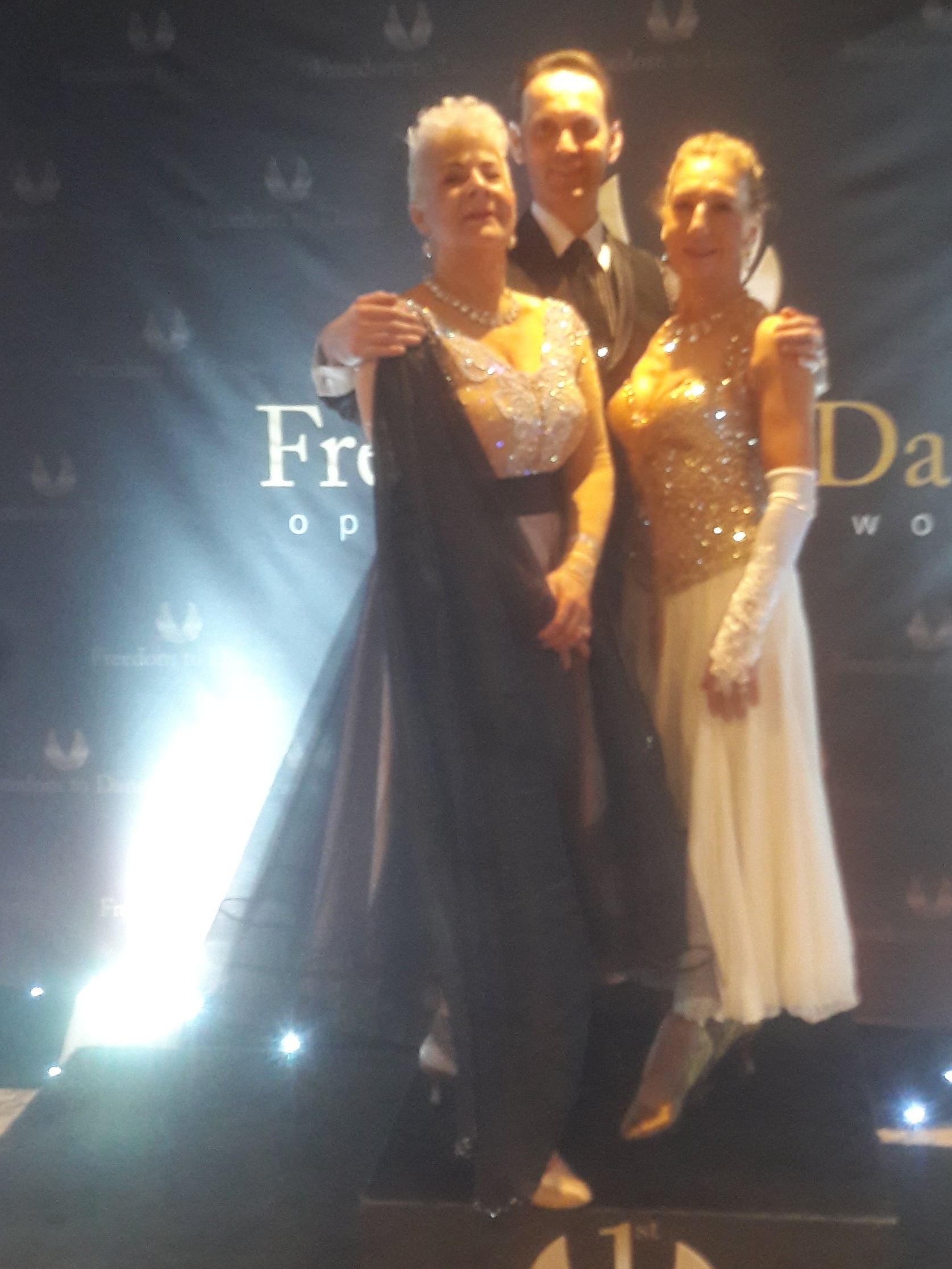Terri Richmond 2nd place over 65 and Paula Moxham 3rd and 6th in ovr 50s  world Pro-Amateur at the Freedom to Dance Competition May 11th 2019.