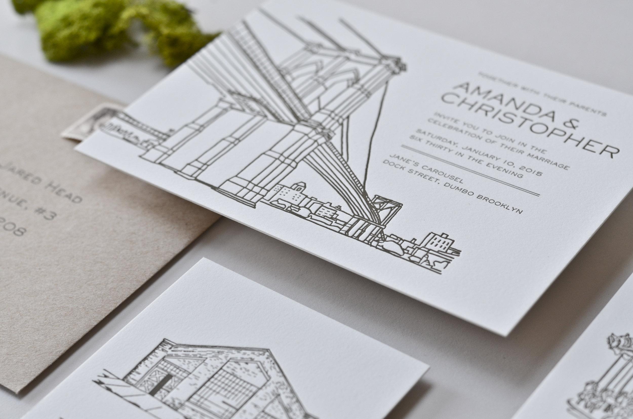 Brooklyn Invitation Suite — The AV Design Factory