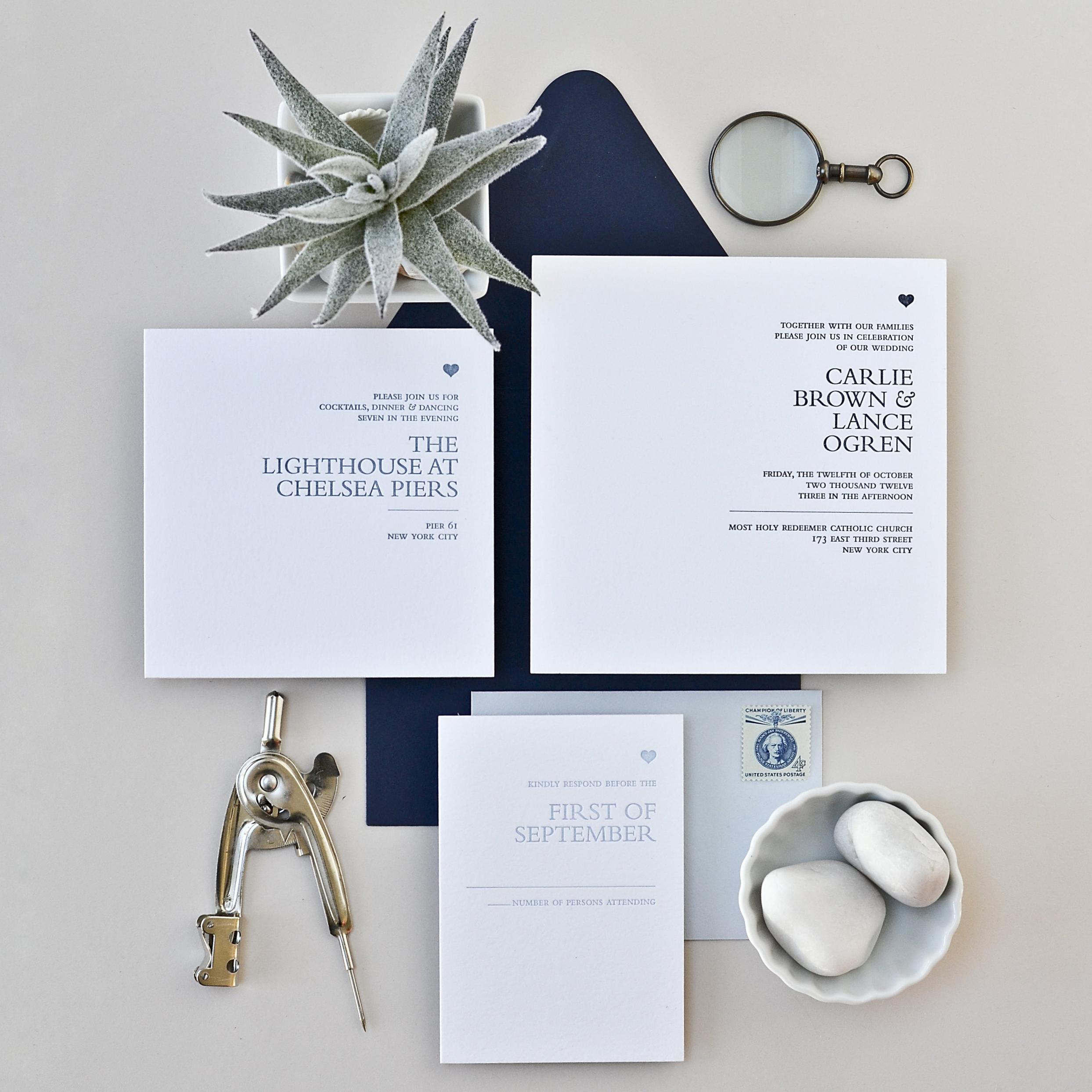 MOD SERIF Letterpress on Bright White Paper