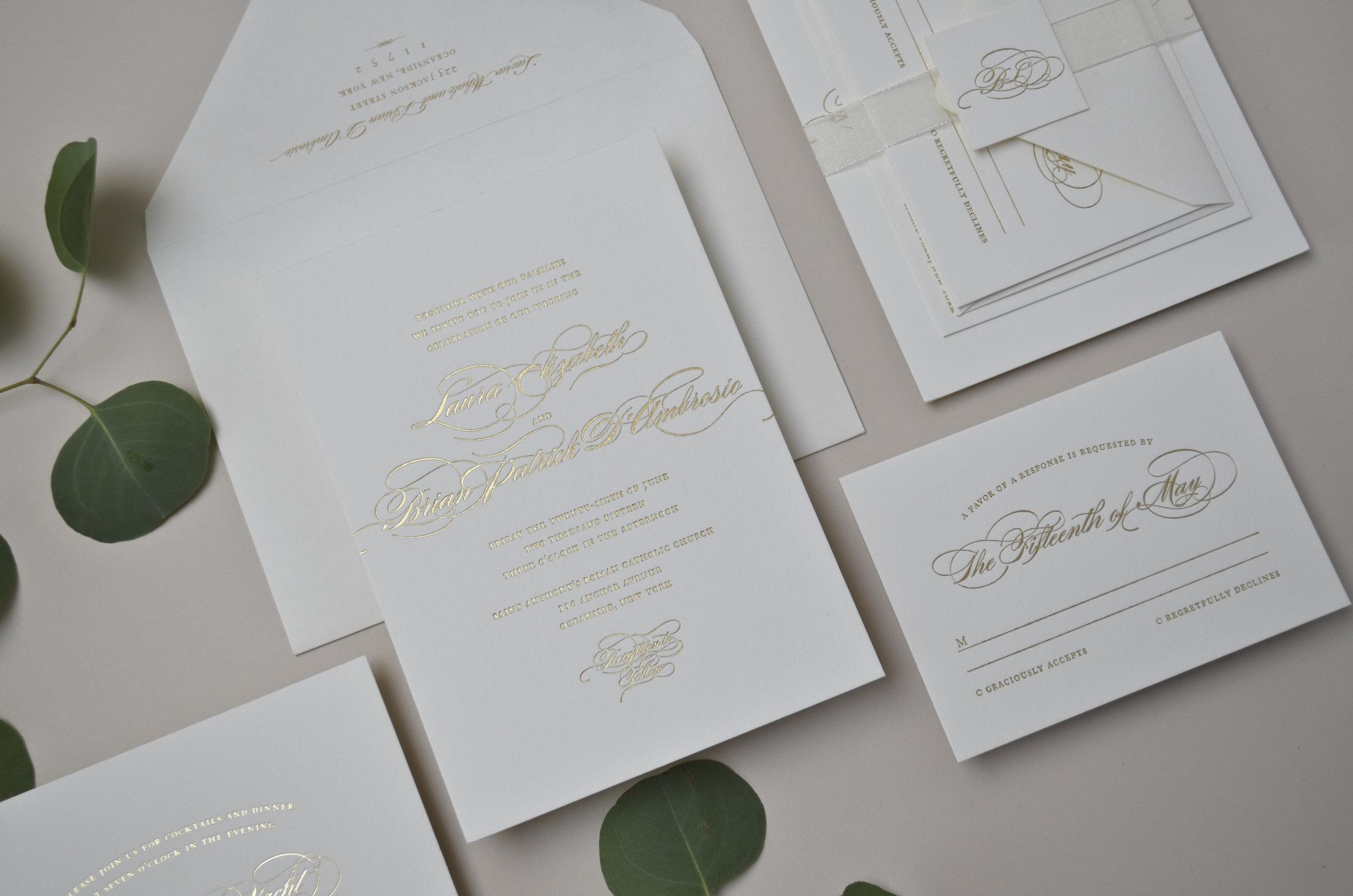 The AV Design Factory - Prosecco Wedding Invitation Suite