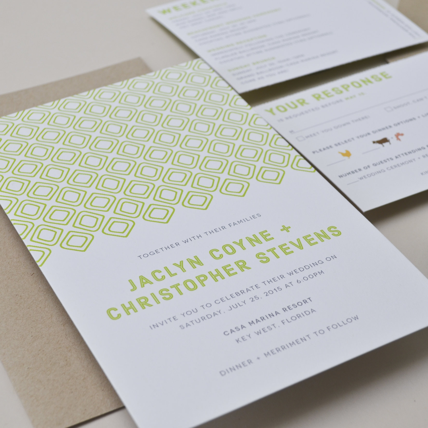 ISLAMORADA Digital Printing on White Paper