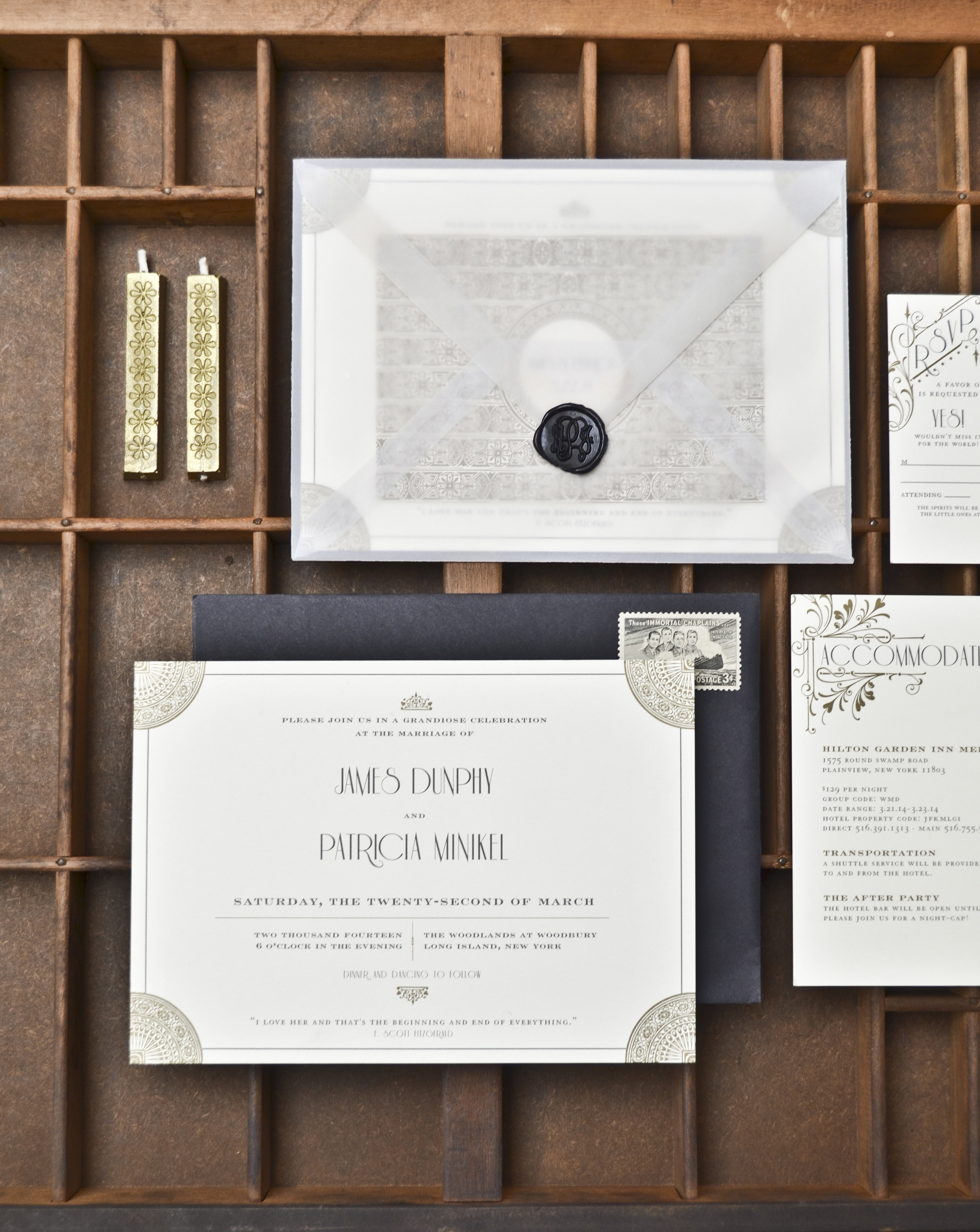 The AV Design Factory - Fitzgerald Wedding Invitation Suite
