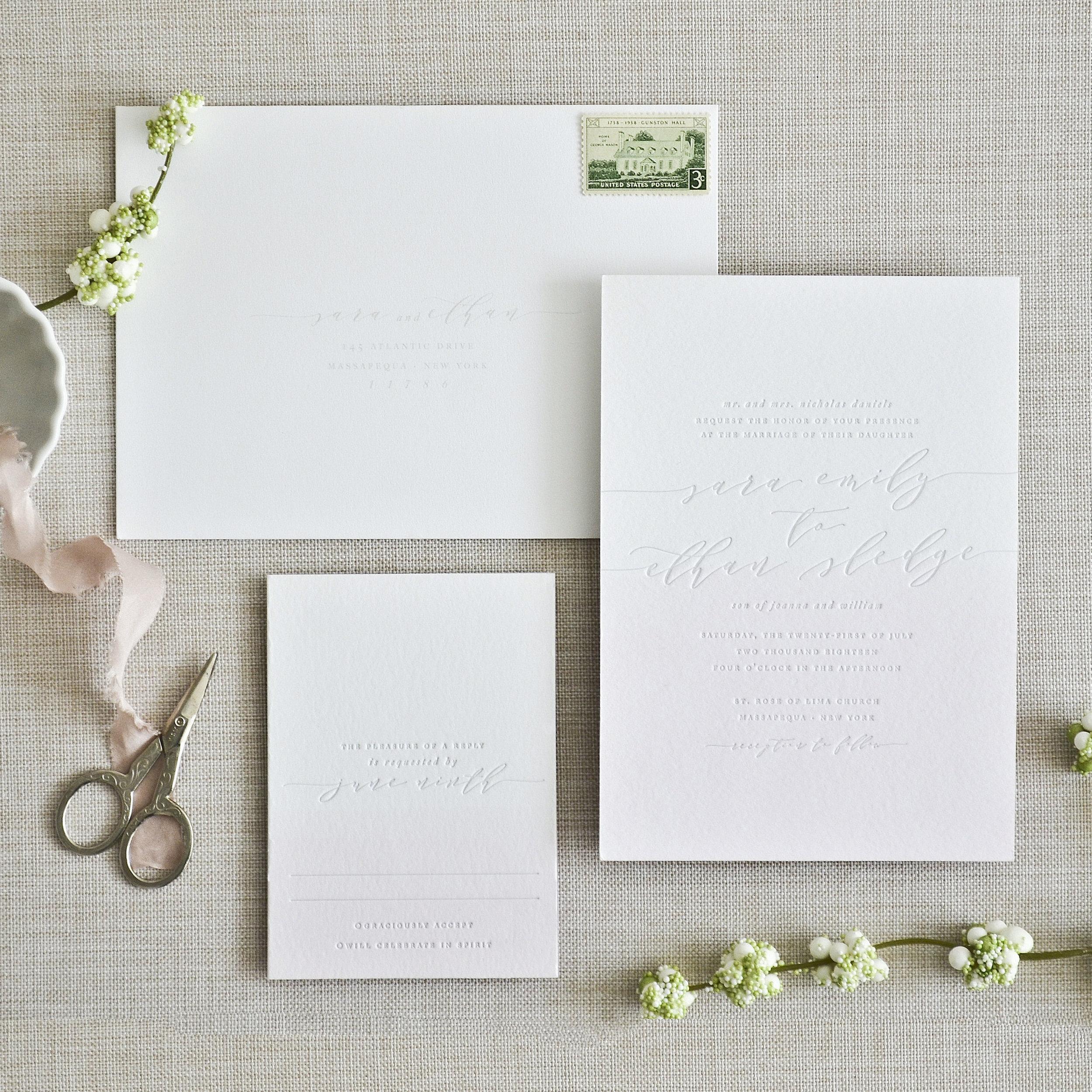 OMBRÉ Letterpress & Dip-Dye on White Paper