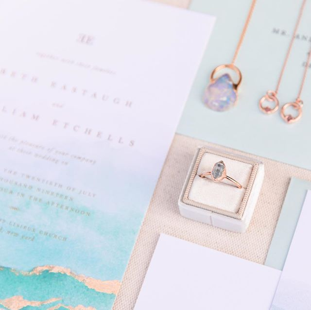 The Breaker suite was paired with some of the most gorgeous oceanic-inspired bling I've ever seen! A huge shout out to @alexmeyerphotography for these dreamy photos. Seriously now, wants to be a mermaid today? You better be raising those hands because Mermaids are awesome. 🧜🏼♀️ .... 💍 from @thefoxandstone . . . . #letterpress #silkscreen #goldfoil #custominvitations #luxuryinvitations #weddinginvitations #invitations #invitationsuite #savethedate #celebrate #nyweddings #nybrides #liweddings #longislandweddings #librides #nauticalwedding #weddingstationery #stationery #stationerydesigner #dailydoseofpaper #paperlove #weddingdetails #typography #creativityfound #pursuepretty #thatsdarling #risingtidesociety #makersgonnamake #waxseals #avdesignfactory