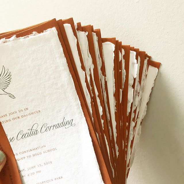Terra-cotta envelopes and raw edges. . . . #letterpress #custominvitations #luxuryinvitations #weddinginvitations #invitations #invitationsuite #savethedate #celebrate #nyweddings #nybrides #liweddings #longislandweddings #librides #bestoflongisland #weddingstationery #stationery #stationerydesigner #handmadepaper #dailydoseofpaper #paperlove #weddingdetails #typography #creativityfound #pursuepretty #thatsdarling #risingtidesociety #makersgonnamake #waxseals #avdesignfactory