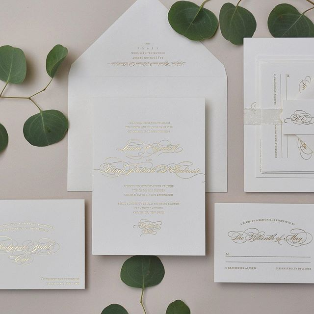 Invitations set the vibe of your affair, and more importantly, they are the first impression of your big day - so let's make this moment count! ✨ . . . #letterpress #goldfoil #custominvitations #luxuryinvitations #weddinginvitations #invitations #invitationsuite #savethedate #celebrate #nyweddings #nybrides #liweddings #longislandweddings #librides #bestoflongisland #weddingstationery #stationery #stationerydesigner #dailydoseofpaper #paperlove #weddingdetails #typography #creativityfound #pursuepretty #thatsdarling #risingtidesociety #makersgonnamake #waxseals #avdesignfactory