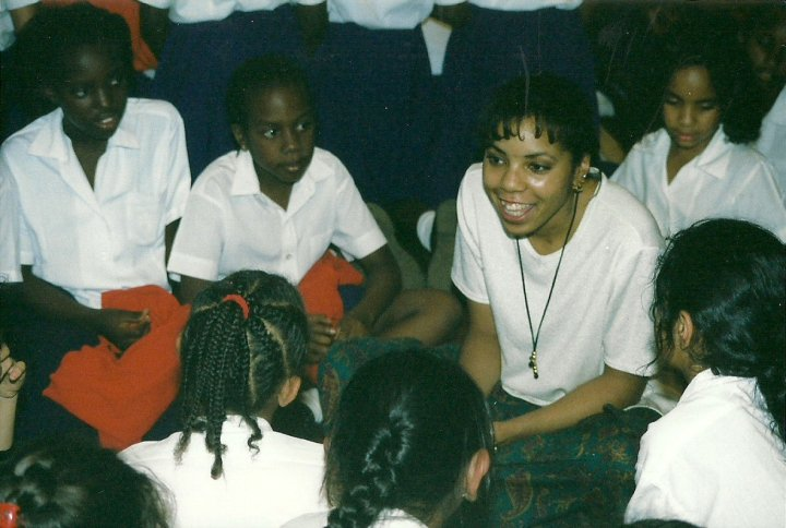 After a concert at a girl's school in Kenya.