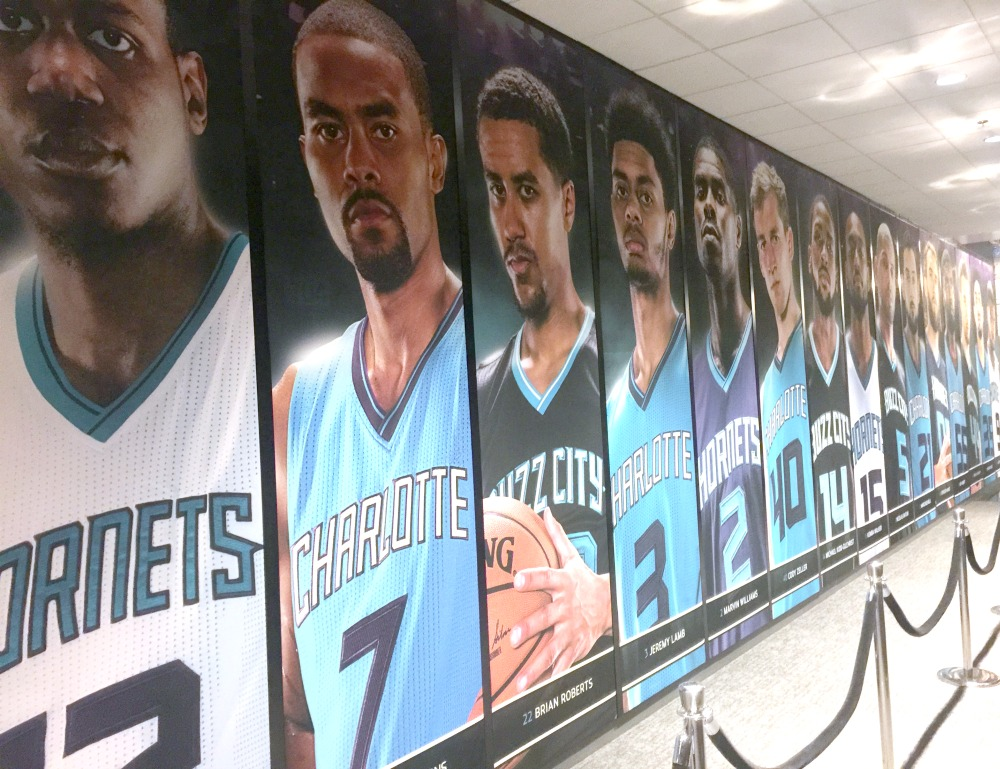 XP Retail - Charlotte Hornet's Player Wall
