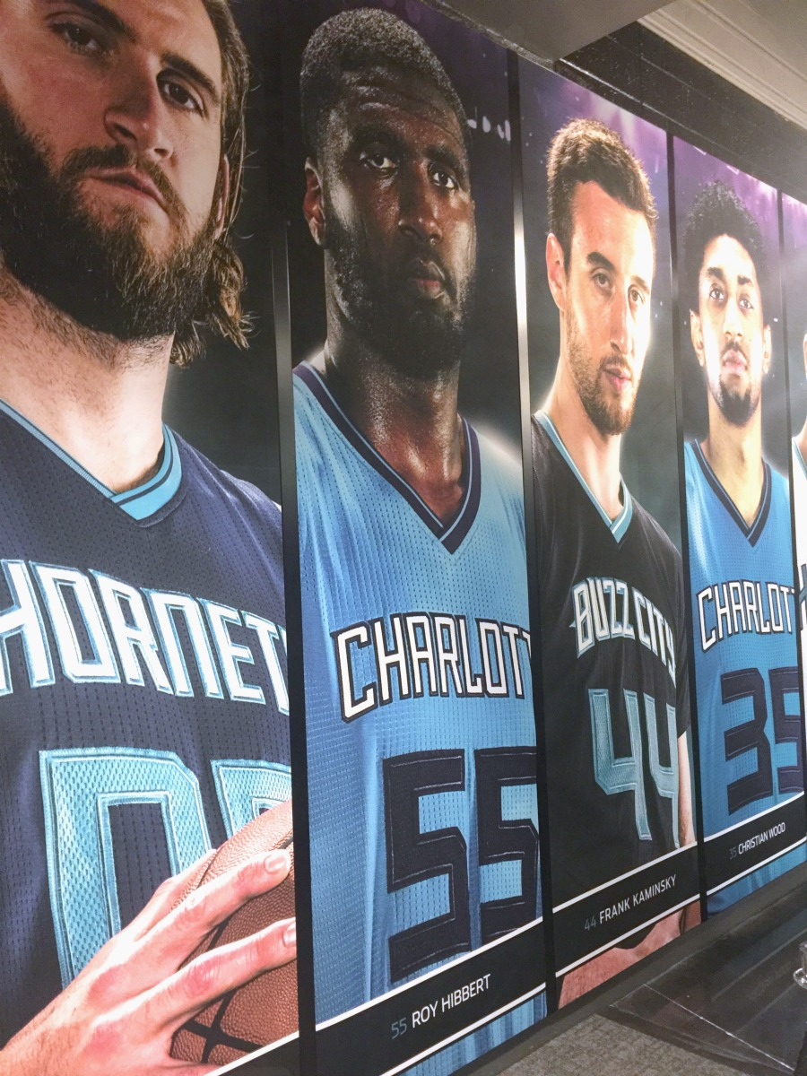 XP Retail - Charlotte Hornets Players Wall