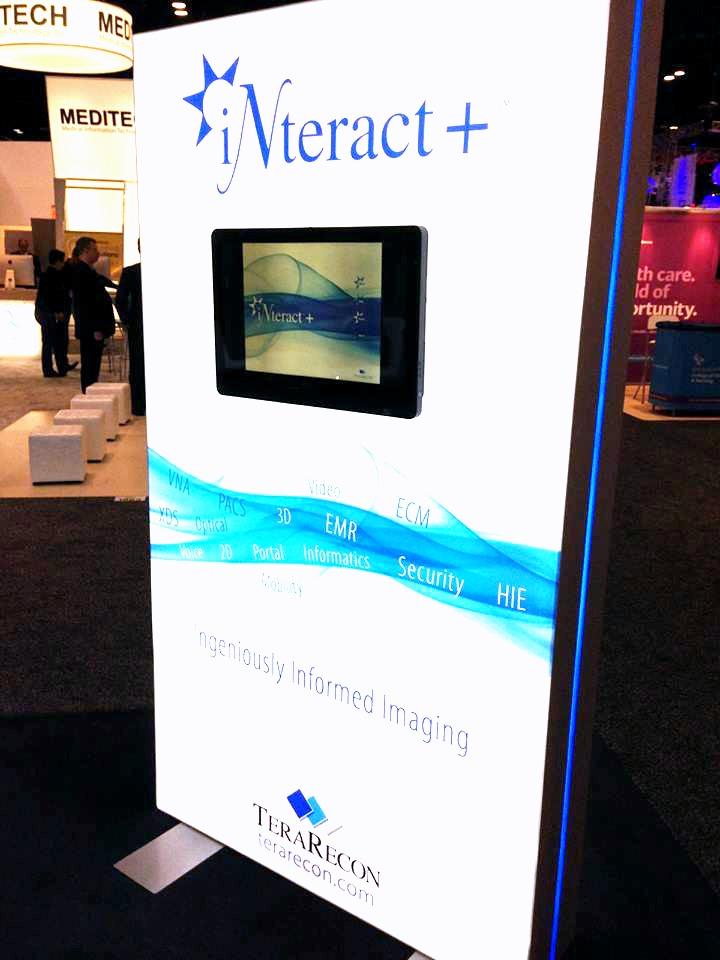 iNteract Matrix Frame Freestanding Light Box with Monitor Mount