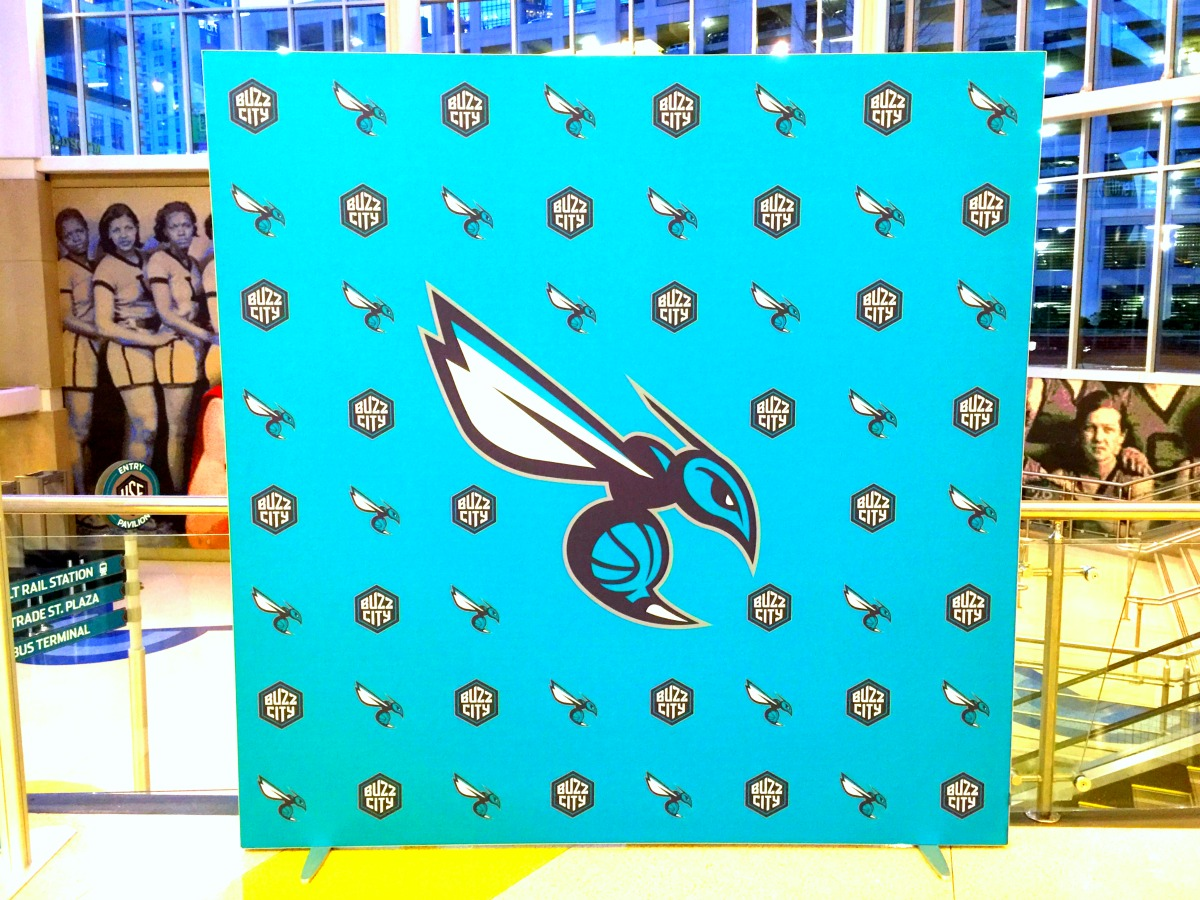 Charlotte Hornets Step and Repeat Background Matrix Frame