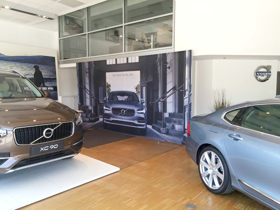 Volvo Showroom Matrix Frame Freestanding Tension Fabric Display