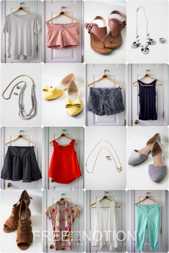 "My Home-Sewn Capsule Wardrobe for Summer 2015 - 1 of 3 ""Style Sudoku"" Wardrobe Arrangements"