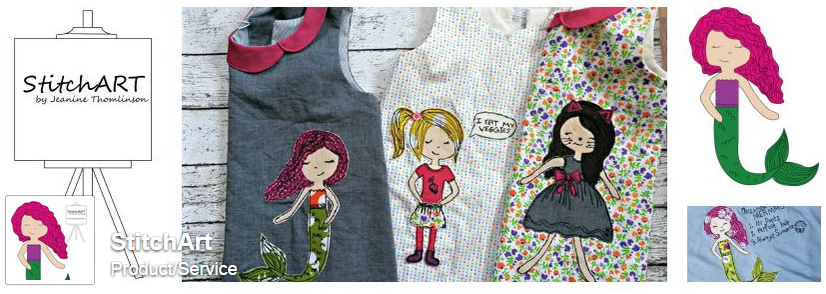 "Click to ""like"" StitchArt on Facebook!"
