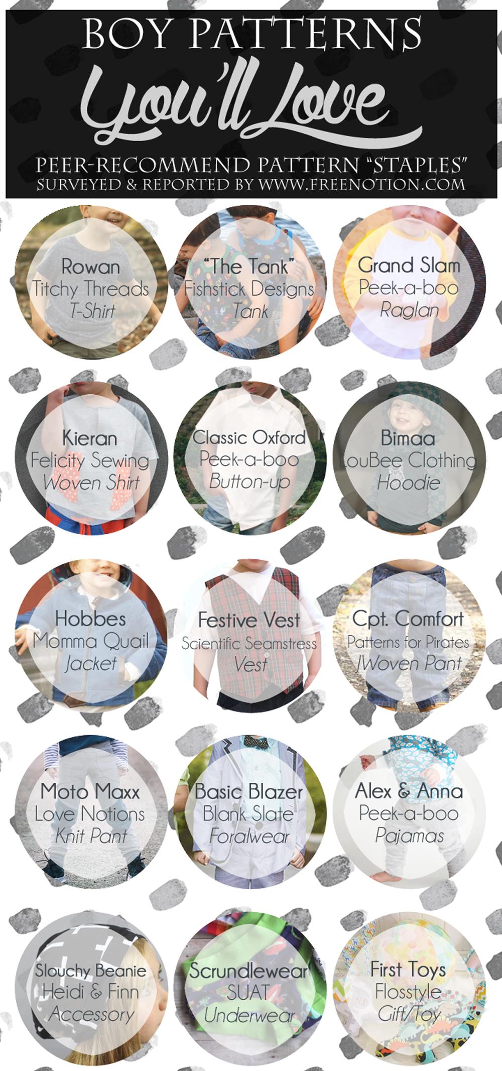 Rowan T-shirt / The Tank / Grand Slam Raglan / Kieran / Classic Oxford / Bimaa / H  obbes Hooded Jacket / Festive Vest /  Cpt. Comfort  /  Moto Maxx  /  Basic Blazer  /  Alex & Anna  /  Slouchy Beanie  /  Scrundlewear  /  First Toys
