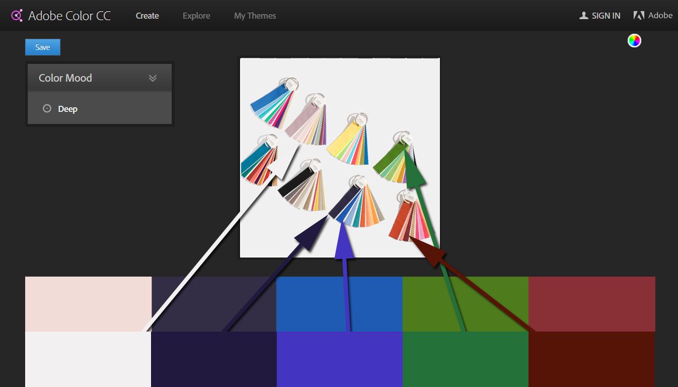 "Bottom Row: My ""Deep"" Colors Top Row: Pantone Equivalents"
