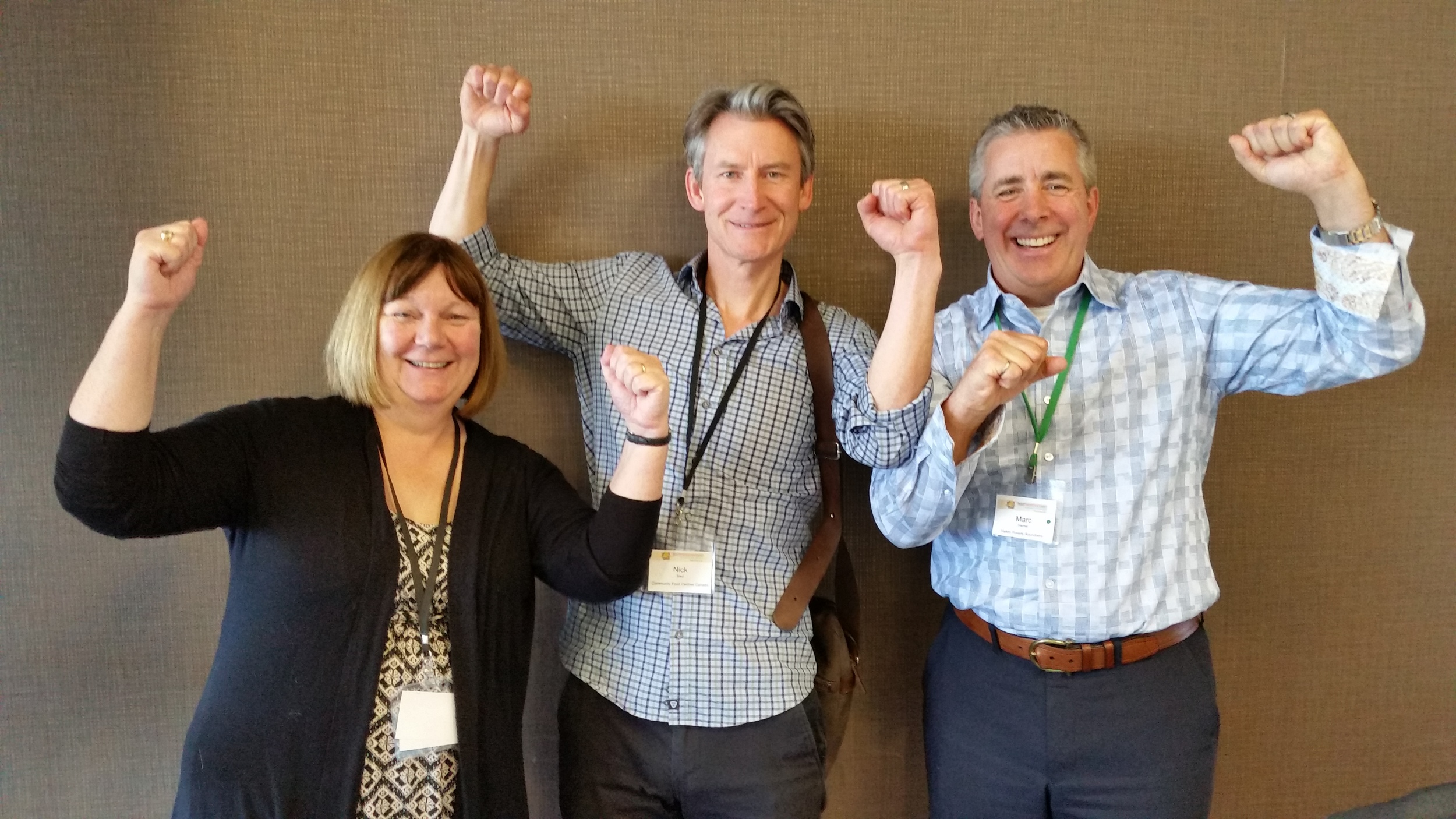 Jane Alexander, panelist at the National Forum on Poverty in Ottawa, May 2015. The topic: building and nurturing champions to end poverty. Pictured here with Nick Saul, CEO Community Food Centres Canada, and Marc Hamel, Business Co-Chair of the Halton Poverty Round Table.