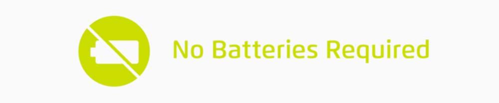 Tikr requires no batteries!