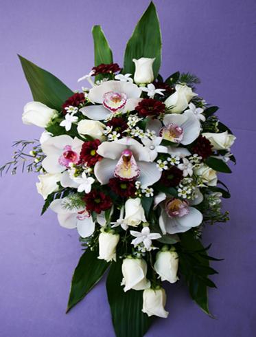 15. Bride's bouquet orchids & white roses