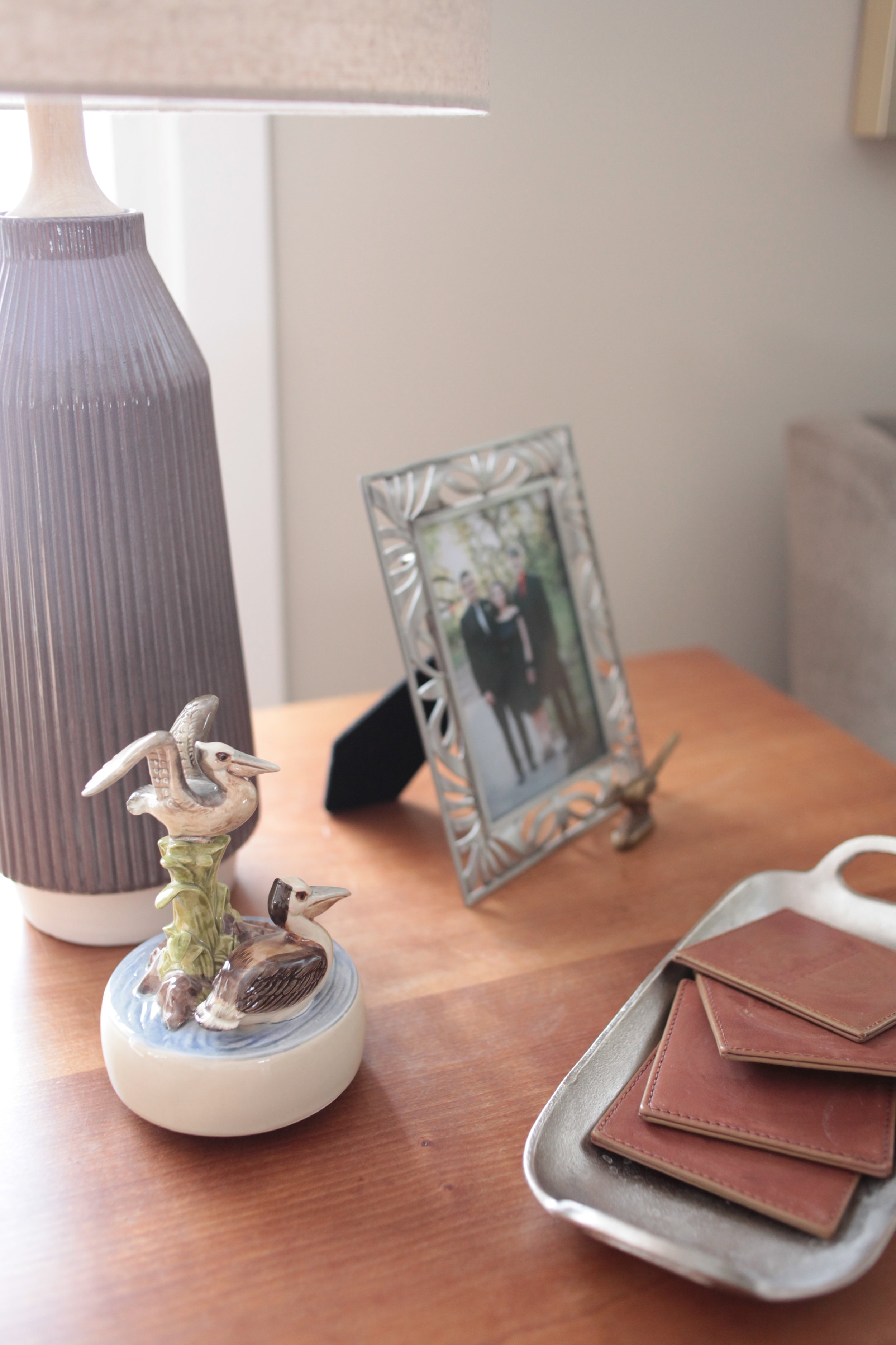 West Elm Roar + Rabbit™ Ripple Ceramic Table Lamp and Silver Tray.JPG